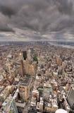 i stadens centrum ny horisont york för stad Arkivbilder