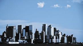 i stadens centrum ny nychorisont USA york för stad Arkivfoto