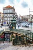 I stadens centrum Oporto, Portugal Fotografering för Bildbyråer