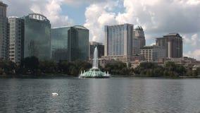 I stadens centrum Orlando i Florida arkivfilmer