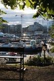 I stadens centrum Oslo royaltyfria foton