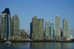 I stadens centrum ottasikt av Panama City Arkivfoton