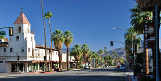 I stadens centrum Palm Spring Royaltyfri Fotografi