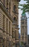 i stadens centrum parlament Arkivbild