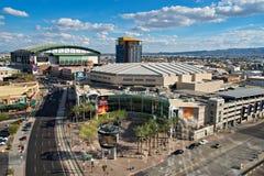 I stadens centrum Phoenix, Arizona Arkivfoton