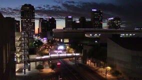 I stadens centrum Phoenix, Arizona stock video
