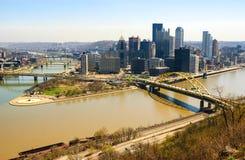 I stadens centrum Pittsburgh Royaltyfri Fotografi