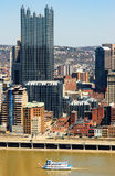I stadens centrum Pittsburgh Arkivfoto