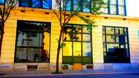 I stadens centrum Pittsburgh byggnad Arkivfoto