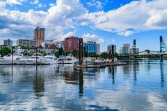 I stadens centrum Portland horisont Royaltyfria Bilder