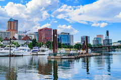 I stadens centrum Portland horisont Royaltyfria Foton