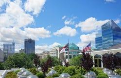 I stadens centrum Raleigh NC royaltyfria foton