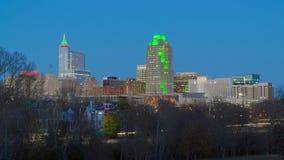 I stadens centrum Raleigh, NC USA arkivbilder