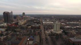 I stadens centrum Raleigh North Carolina Skyline stock video