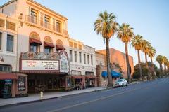 I stadens centrum Redlands i San Bernardino Arkivbilder
