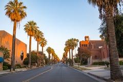 I stadens centrum Redlands i San Bernardino Royaltyfria Bilder