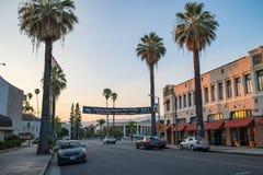 I stadens centrum Redlands i San Bernardino Royaltyfria Foton