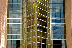 i stadens centrum reflexioner Royaltyfri Fotografi