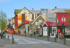 I stadens centrum Reykjavik Royaltyfria Bilder