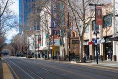 I stadens centrum Sacramento i eftermiddag Arkivfoto