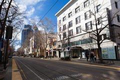 I stadens centrum Sacramento i eftermiddag Royaltyfri Fotografi