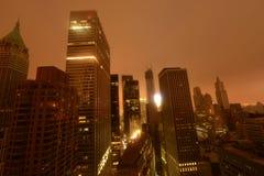 I stadens centrum sandigt Manhattan strömströmavbrott tack vare Fotografering för Bildbyråer