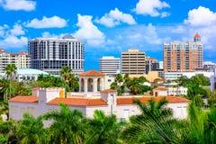 I stadens centrum Sarasota, Florida Arkivfoton
