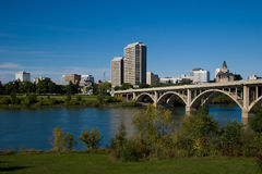 i stadens centrum saskatoon Royaltyfri Bild