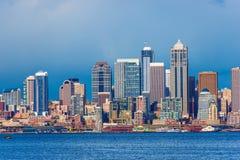 I stadens centrum Seattle horisont Royaltyfria Bilder
