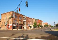 I stadens centrum Seneca Falls Arkivfoto