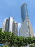 i stadens centrum shanghai Arkivfoton