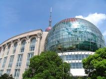 i stadens centrum shanghai Arkivbild