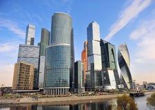 I stadens centrum sikt av Moskvastaden Royaltyfri Fotografi