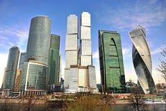 I stadens centrum sikt av Moskvastaden Royaltyfri Foto