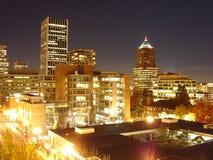 i stadens centrum sikt 2005 av strömbrytare Portland fotografering för bildbyråer