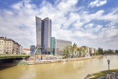 I stadens centrum sikt av Wien Royaltyfri Fotografi