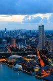 I stadens centrum Singapore Arkivbild
