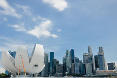 I stadens centrum Singapore Royaltyfri Bild