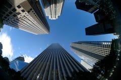 i stadens centrum skyskrapa Fotografering för Bildbyråer