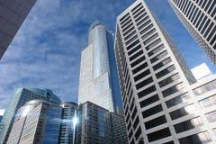 i stadens centrum skyskrapor Royaltyfri Foto