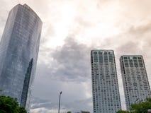 i stadens centrum skyskrapor Arkivbild