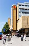 I stadens centrum Solna Arkivfoto