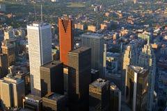 i stadens centrum solnedgång toronto royaltyfri fotografi