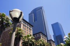 I stadens centrum stad av Los Angeles byggnader Arkivbild