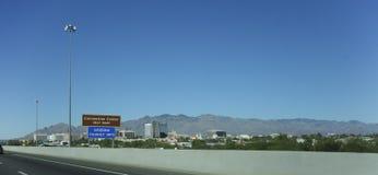 I stadens centrum stad av Tucson, AZ Royaltyfri Foto