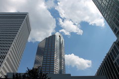 I stadens centrum stadsskyskrapor Royaltyfria Foton