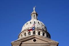 i stadens centrum tillstånd texas för austin byggnadscapitol Arkivfoto