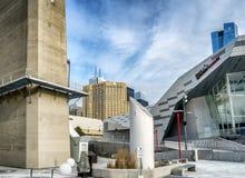 I stadens centrum Toronto akvarium och hotell Arkivfoto