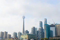 I stadens centrum Toronto, CN-torn Arkivbild