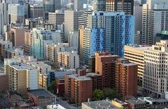 I stadens centrum Toronto finansiella områdesbyggnader stänger sig upp Royaltyfri Bild